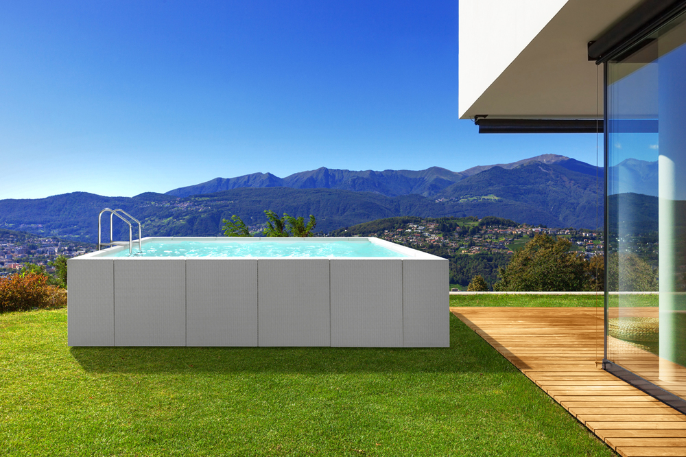 Dolchevita Diva by Splash Pools in a beautiful outdoor installation