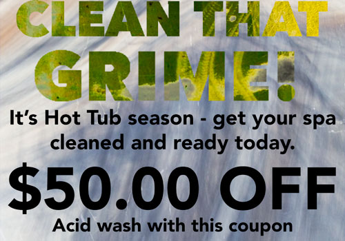 Acid Wash Cleaning $50 off with this coupon